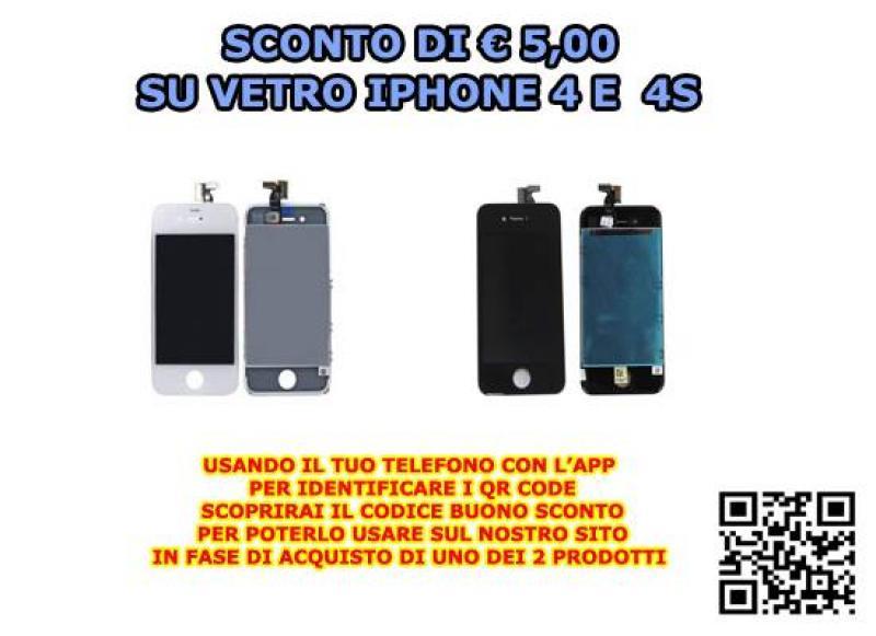 Riparazione Vetro Iphone 4 e 4 s